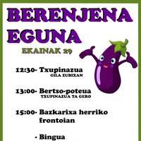 Astelehenean bukatuko da Berenjena Eguneko bazkarirako izen-ematea