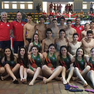 Akizu anai-arrebak Euskadiko waterpolo selekzioarekin lehiatu dira Madrilen