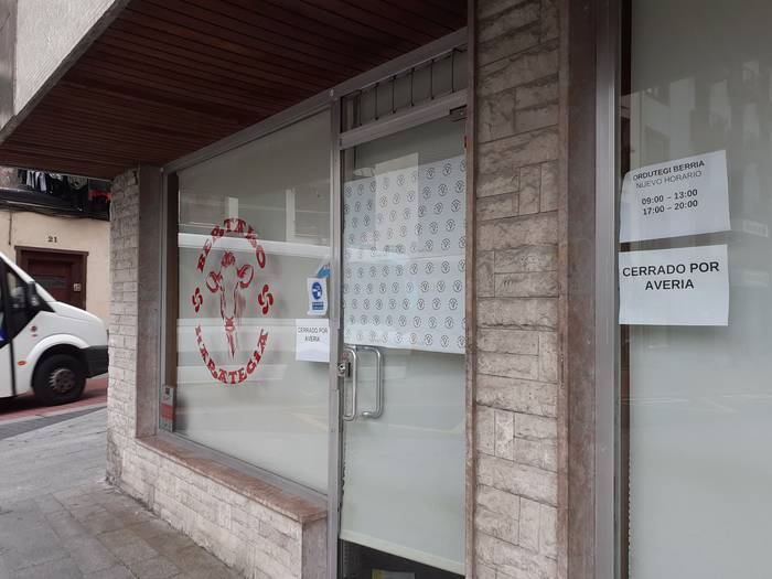 Bertako harategia berriro zabaltzeko esperantza txikia