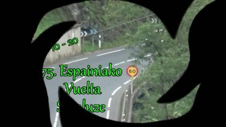 Espainiako Vuelta herriko sarreratik