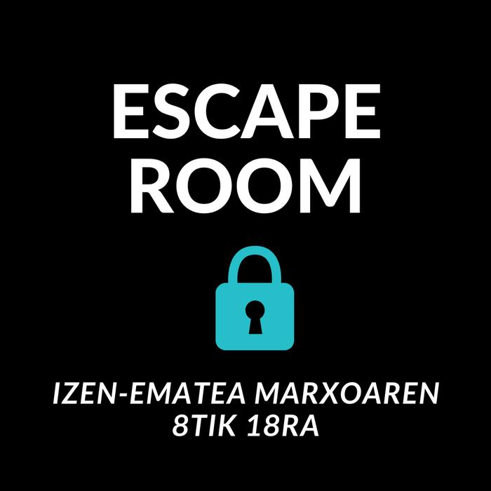 Escape Roomerako izen-ematea zabalik
