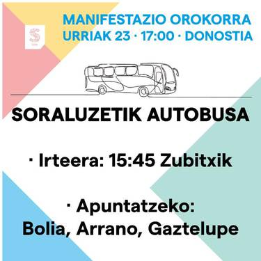Autobusa Donostiako manifestaziora