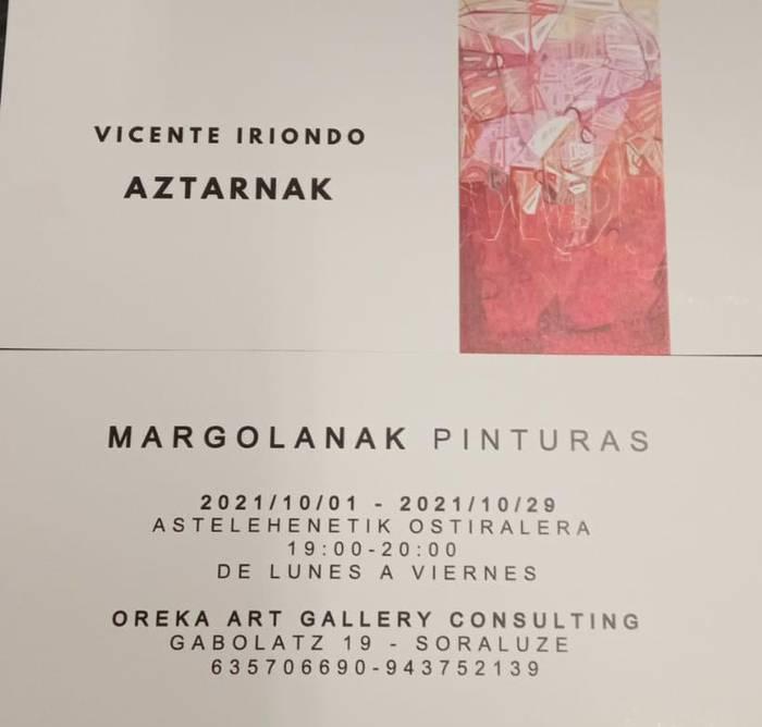 """Erakusketa: """"Vicente Iriondo""""."""