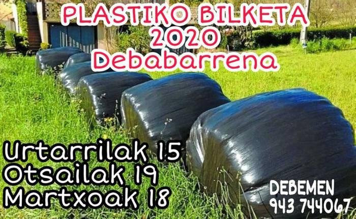 Baserrietako plastikoaren bilketa