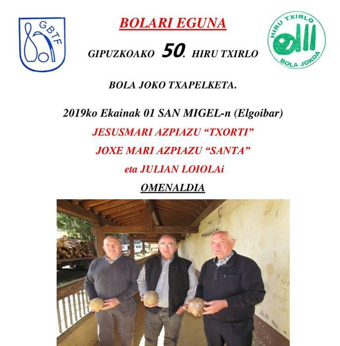 Zapatuan Bolari eguna Elgoibarren