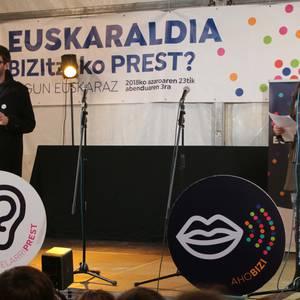 Euskaraz gozatzeko deia Euskaraldiaren hasierako ekitaldian