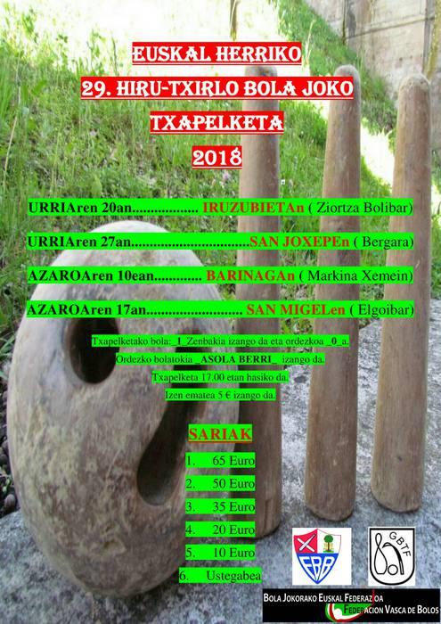 Euskal herriko 29. hiru txirlo txapelketa