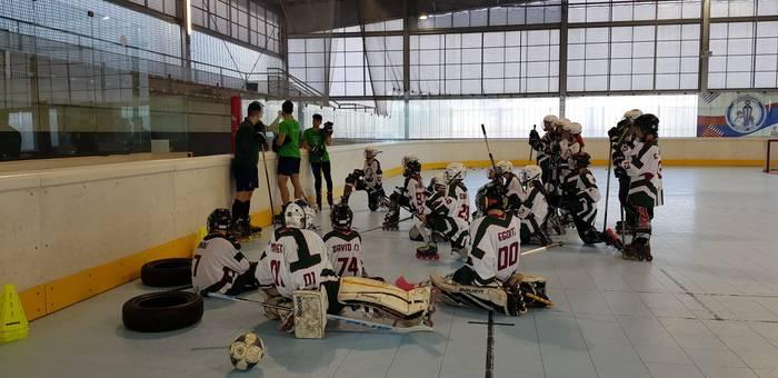 Soraluzeko hockey jokalariak Euskal Selekzioko campusean