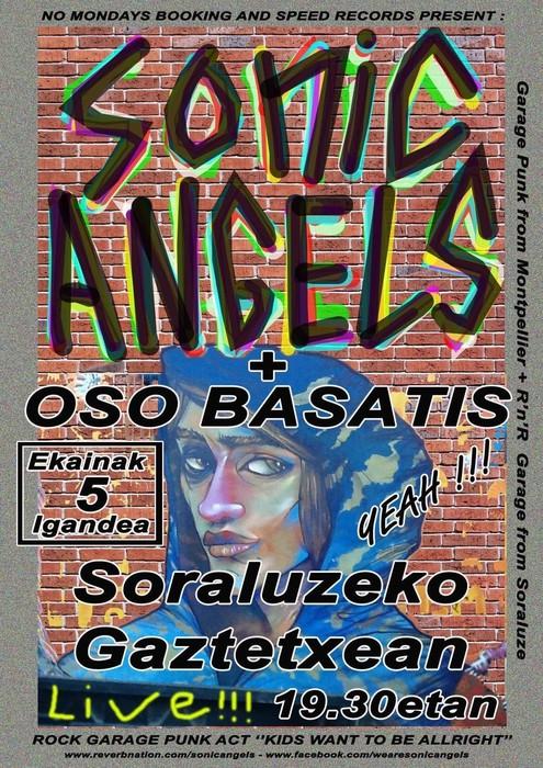 """Kontzertua: """"SONIC ANGELS"""" eta """"OSO BASATIS"""""""