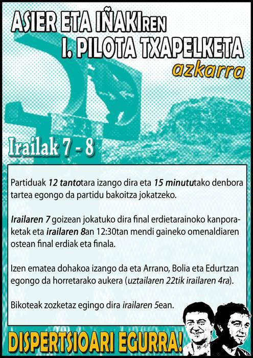 ASIER TA IÑAKI I. PILOTA TXAPELKETA AZKARRA!