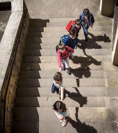 Eskolarako lau ibilbideen mapak
