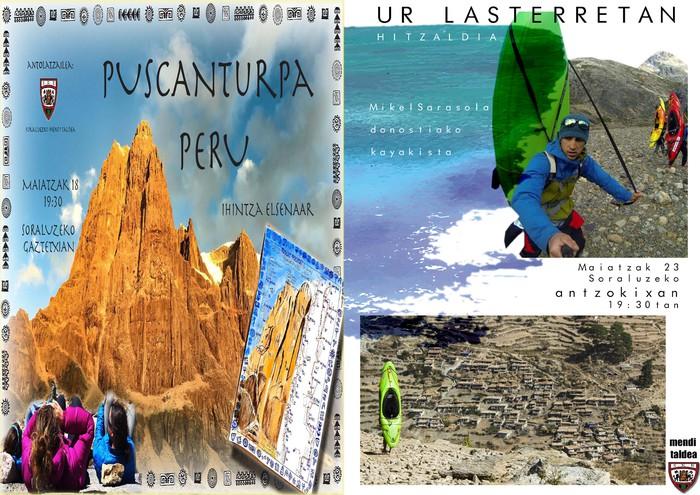 Eskalada eta kayakari buruzko hitzaldiak