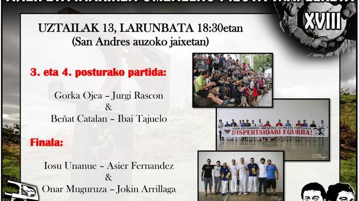 Final nagusia: Fernandez-Unanue vs Muguruza-Arrillaga