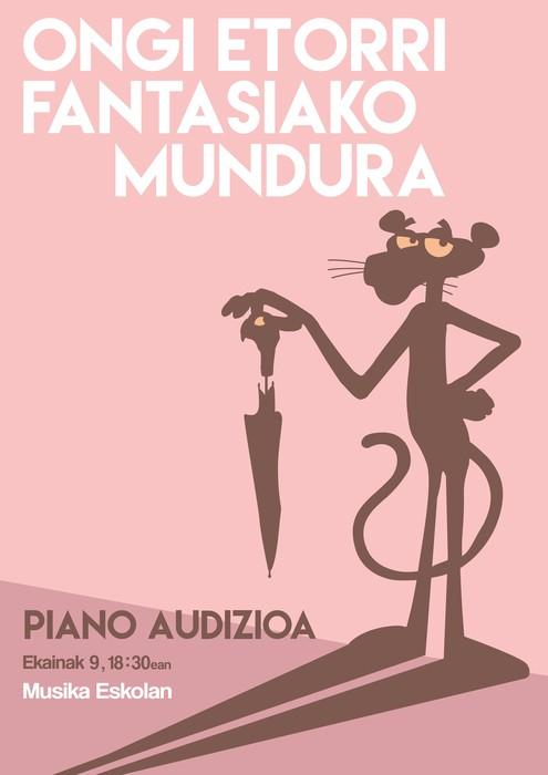 Piano audizioa ostiralean, fantasiazko mundua gaitzat hartuta