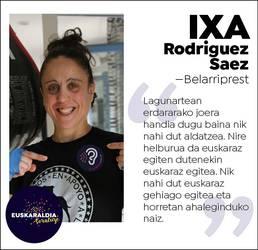 """Ixa Rodriguez, belarriprest: """"Nik nahi dut euskaraz gehiago egitea eta horretan ahaleginduko naiz"""""""