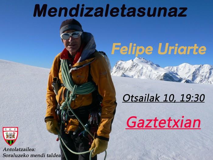 Felipe Uriarte Gaztetxian  Datorren Asteazkenena