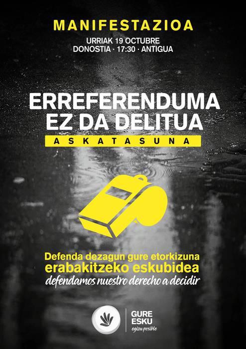 Gure Eskuk autobusa antolatu du Donostiako manifestaziora joateko