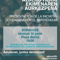 Ekitaldia: 'Erreferendumaren aldeko herri ekimena' (Gure Esku)