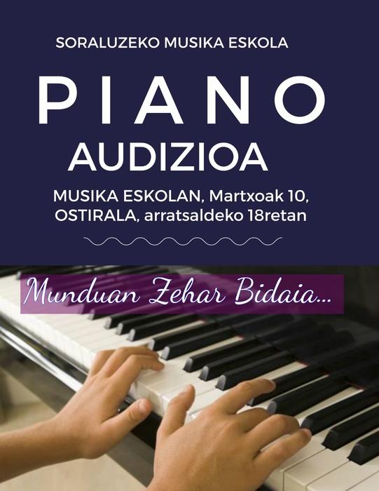 Pianoko ikasleen audizio berezia ostiralean
