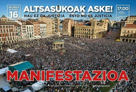Iruñeko manifestaziora joateko autobusa antolatu dute Soraluzetik